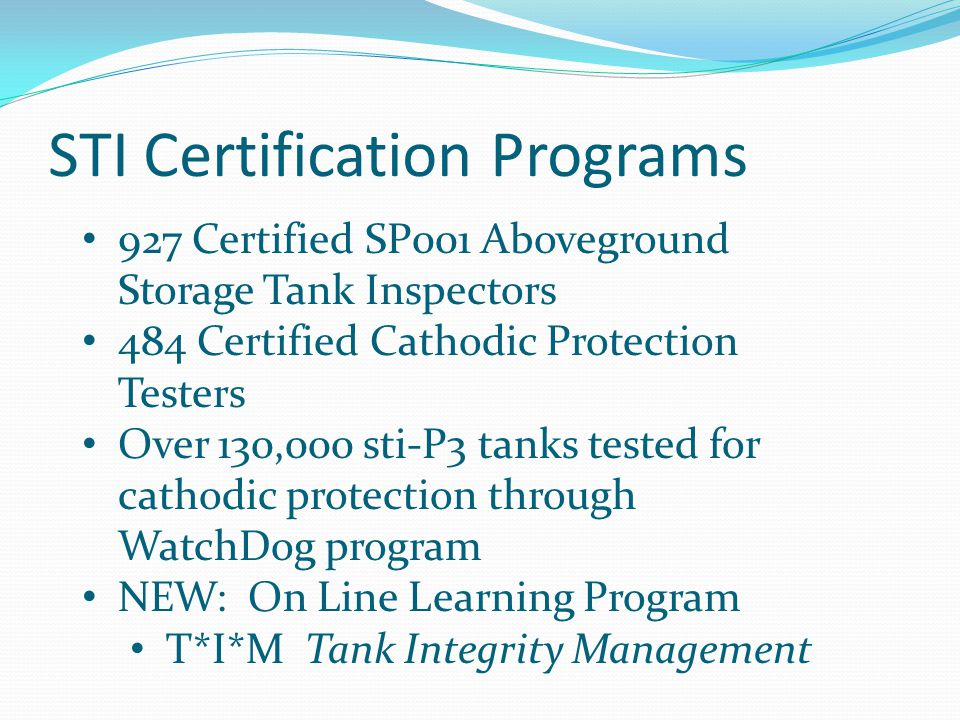 STI Certification Programs