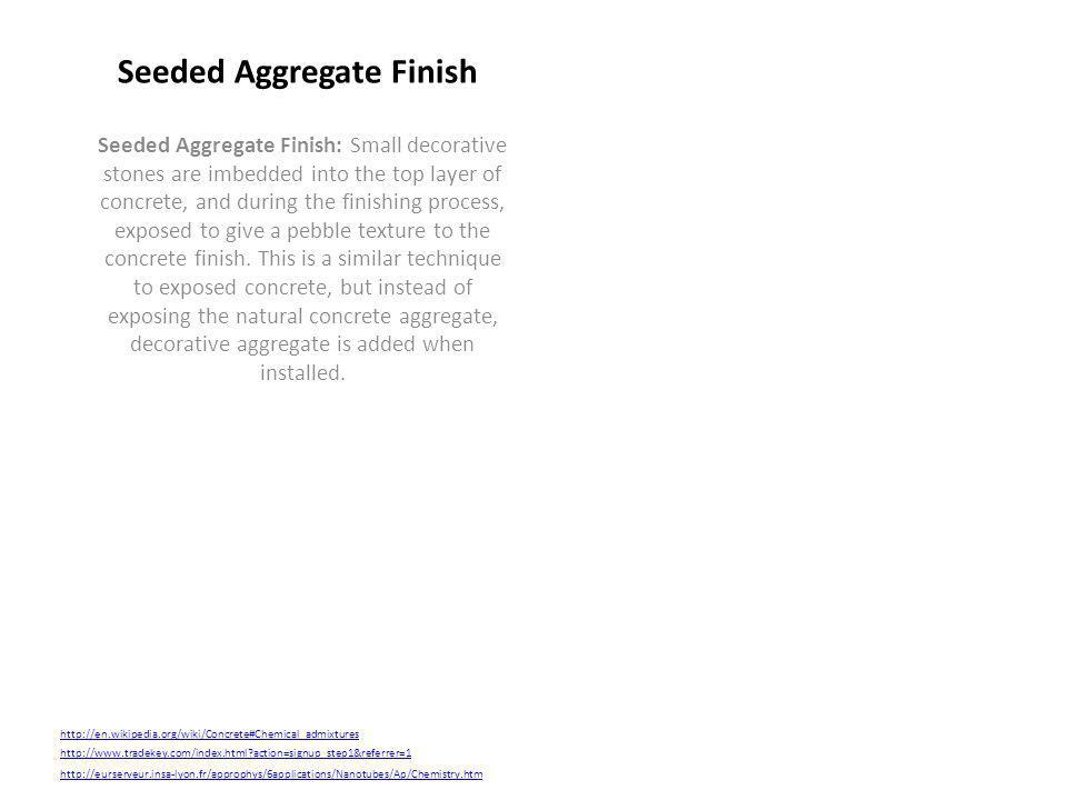 Seeded Aggregate Finish