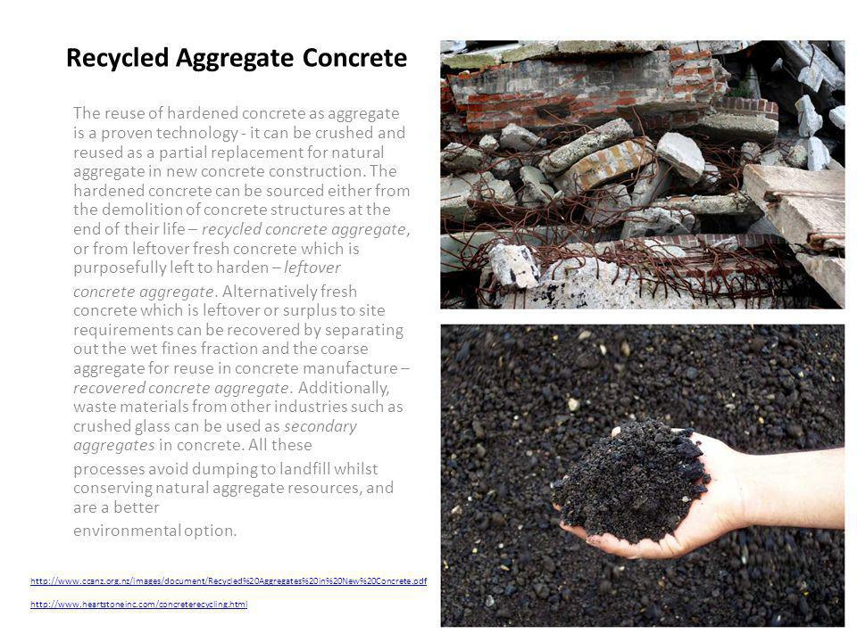Recycled Aggregate Concrete