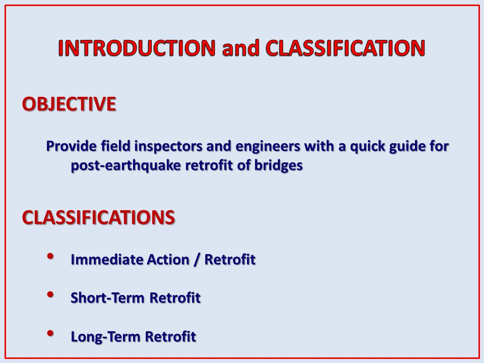 INTRODUCTION and CLASSIFICATION