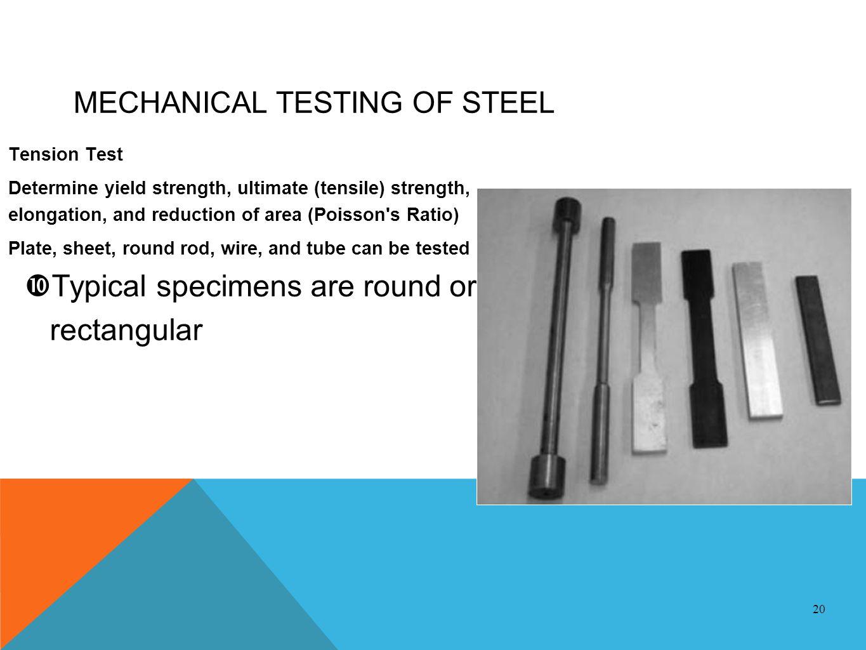 MECHANICAL TESTING OF STEEL