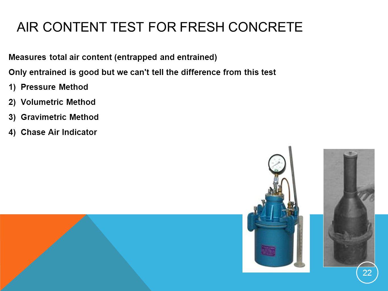 AIR CONTENT TEST FOR FRESH CONCRETE
