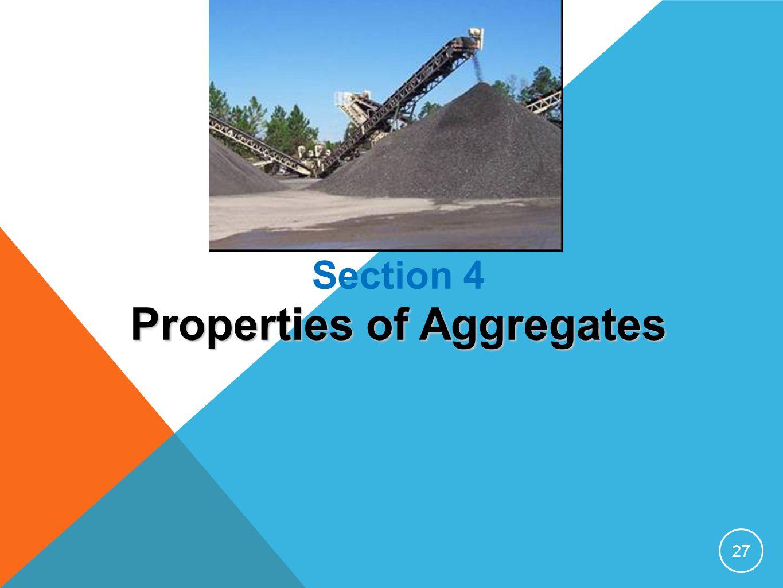 Properties of Aggregates