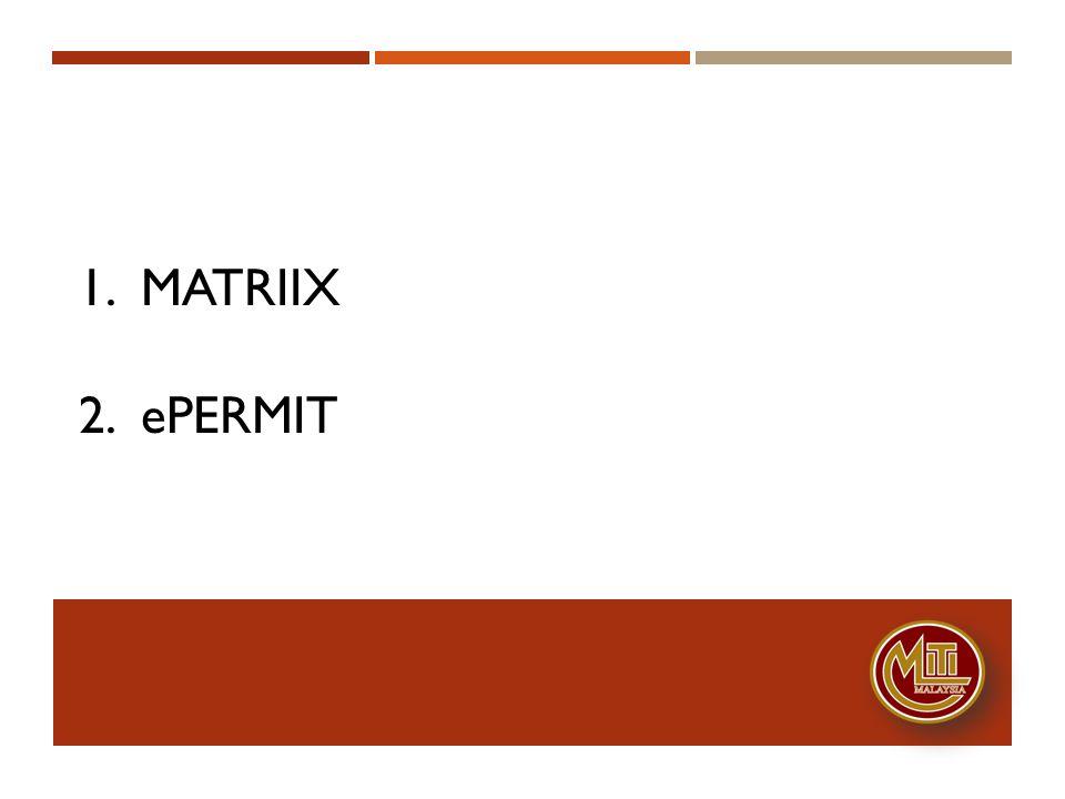 1. MATRIIX 2. epermit