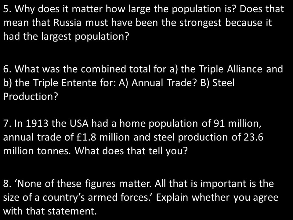 5. Why does it matter how large the population is