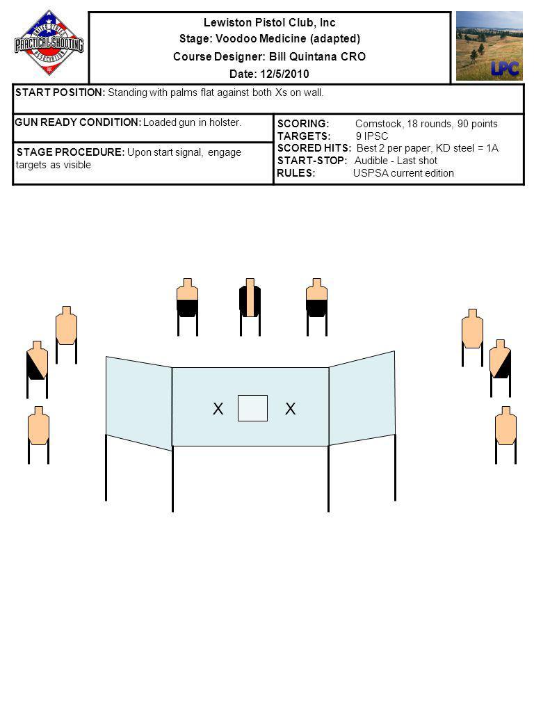LPC X X Lewiston Pistol Club, Inc Stage: Voodoo Medicine (adapted)