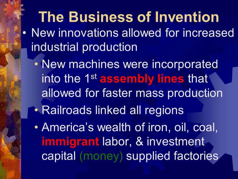 The Business of Invention