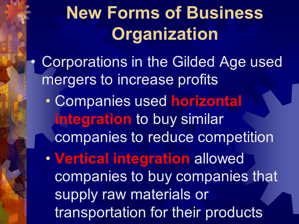 New Forms of Business Organization