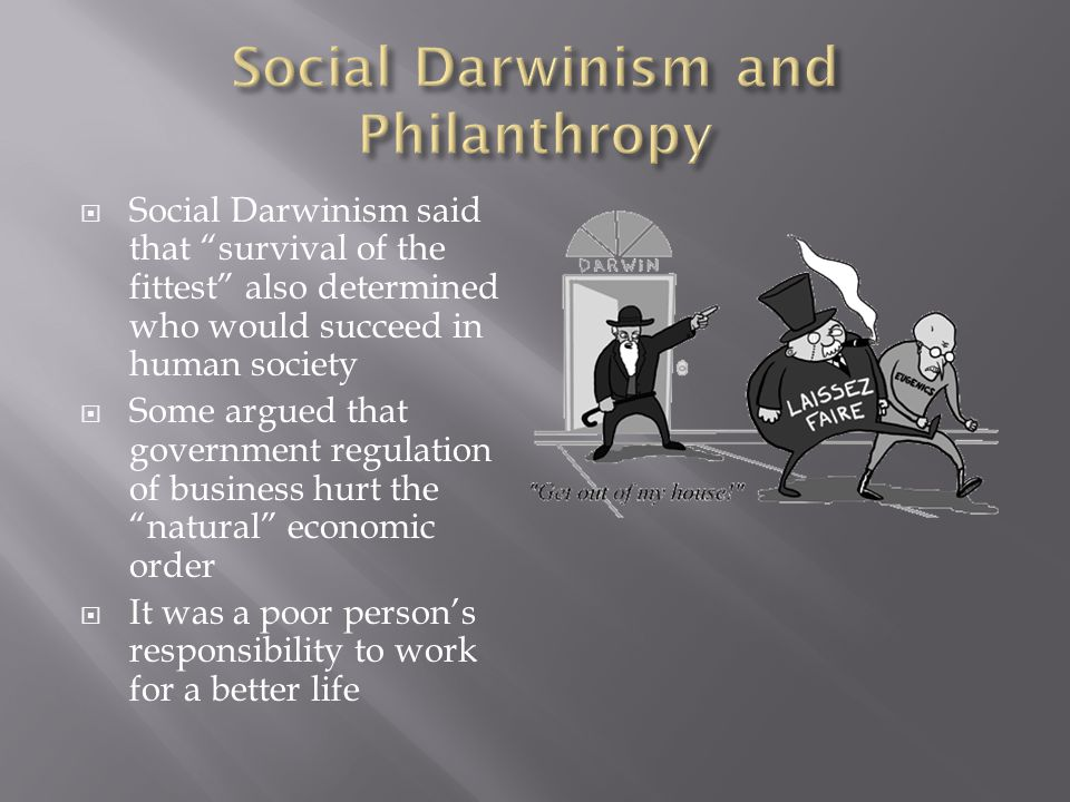 Social Darwinism and Philanthropy