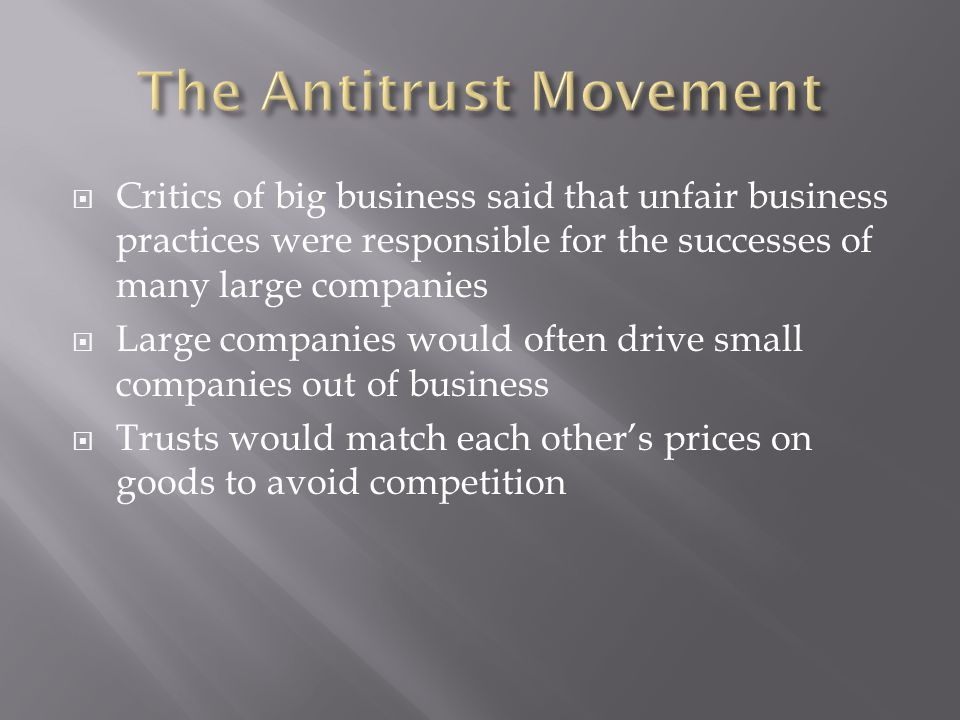 The Antitrust Movement