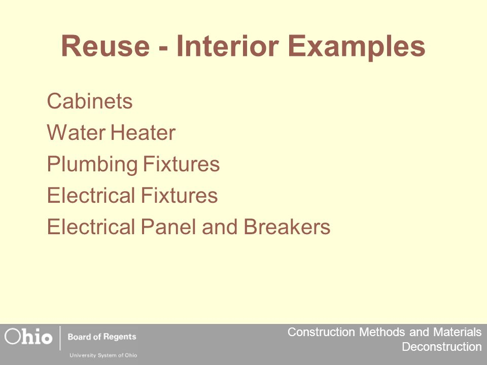 Reuse - Interior Examples