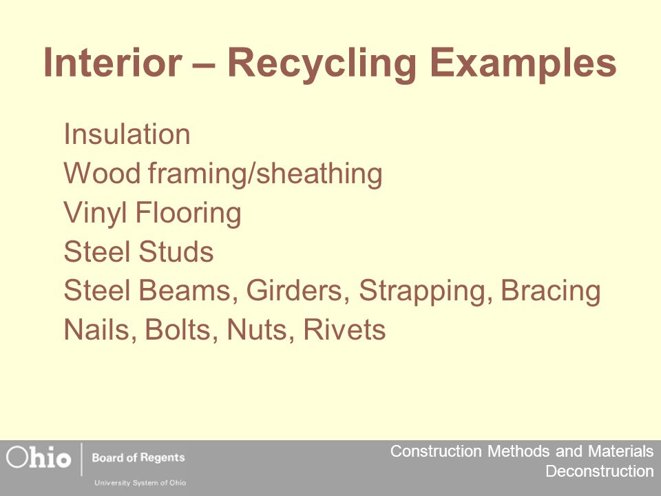 Interior – Recycling Examples