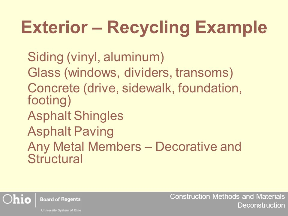 Exterior – Recycling Example