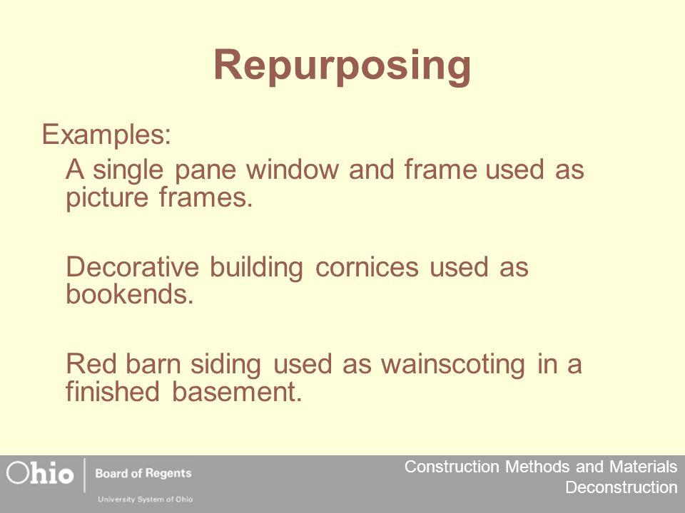 Repurposing Examples:
