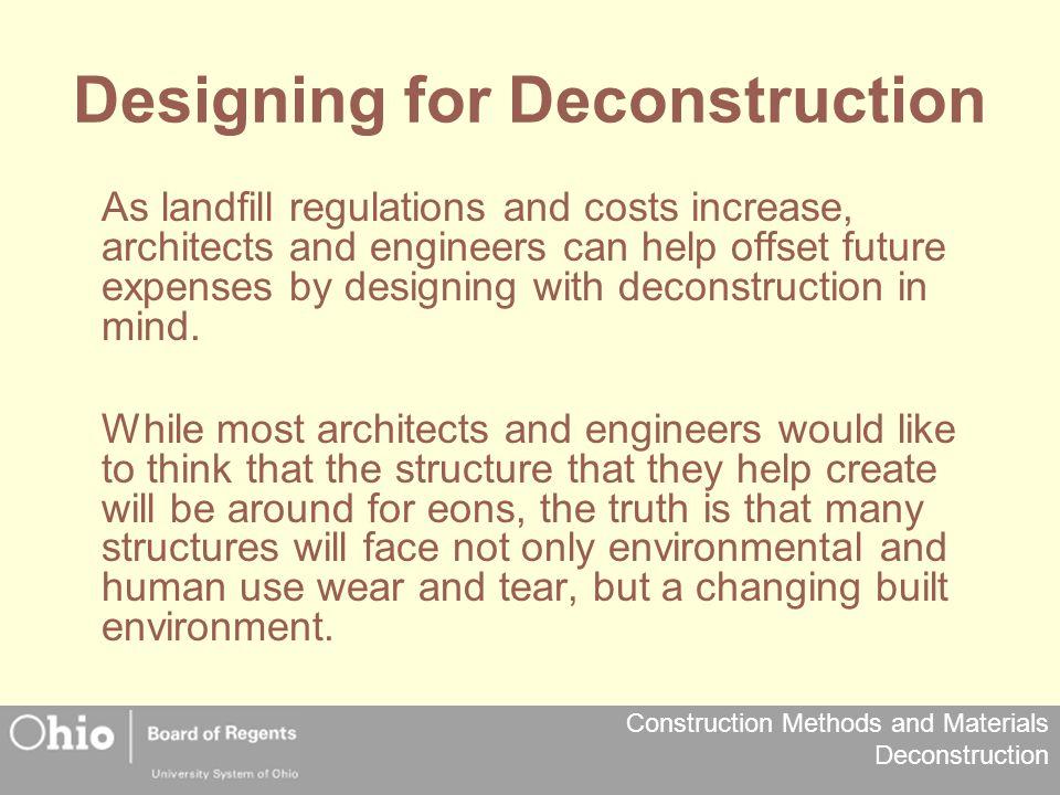 Designing for Deconstruction