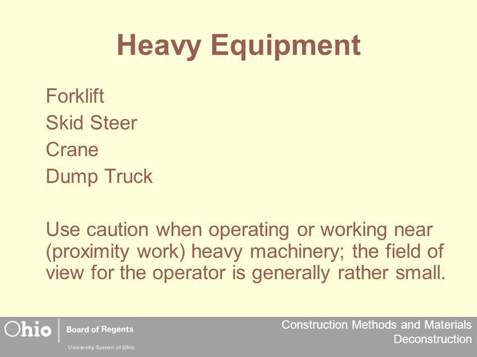 Heavy Equipment Forklift Skid Steer Crane Dump Truck