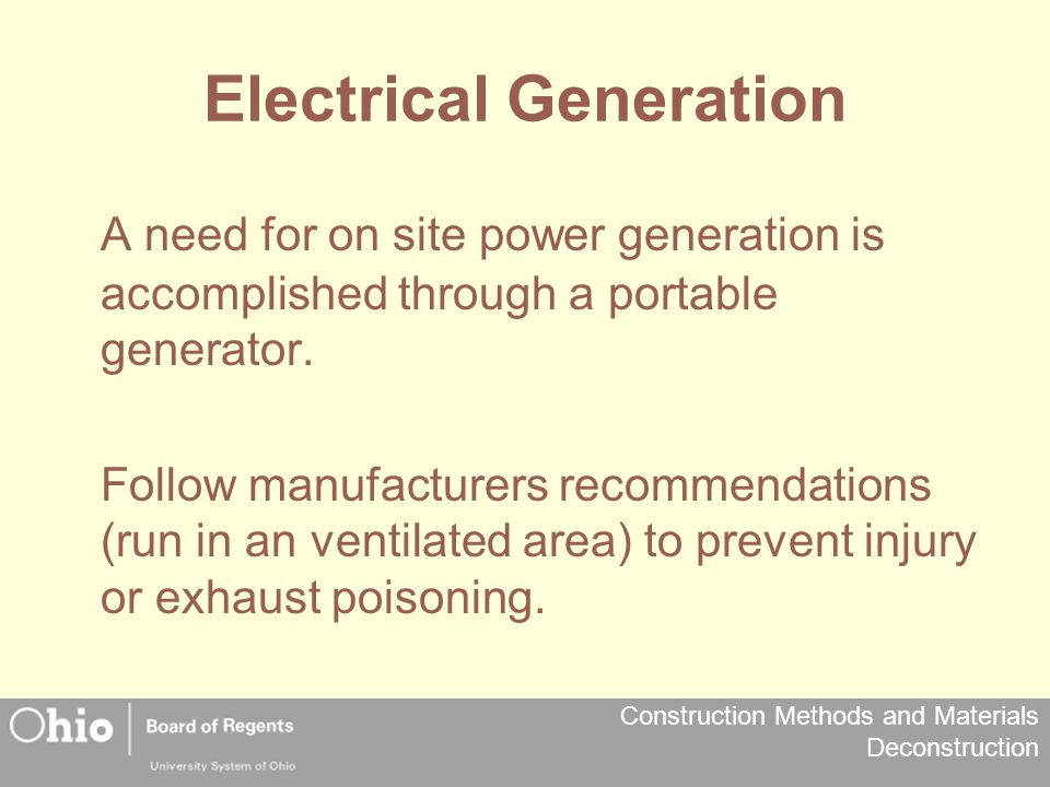 Electrical Generation