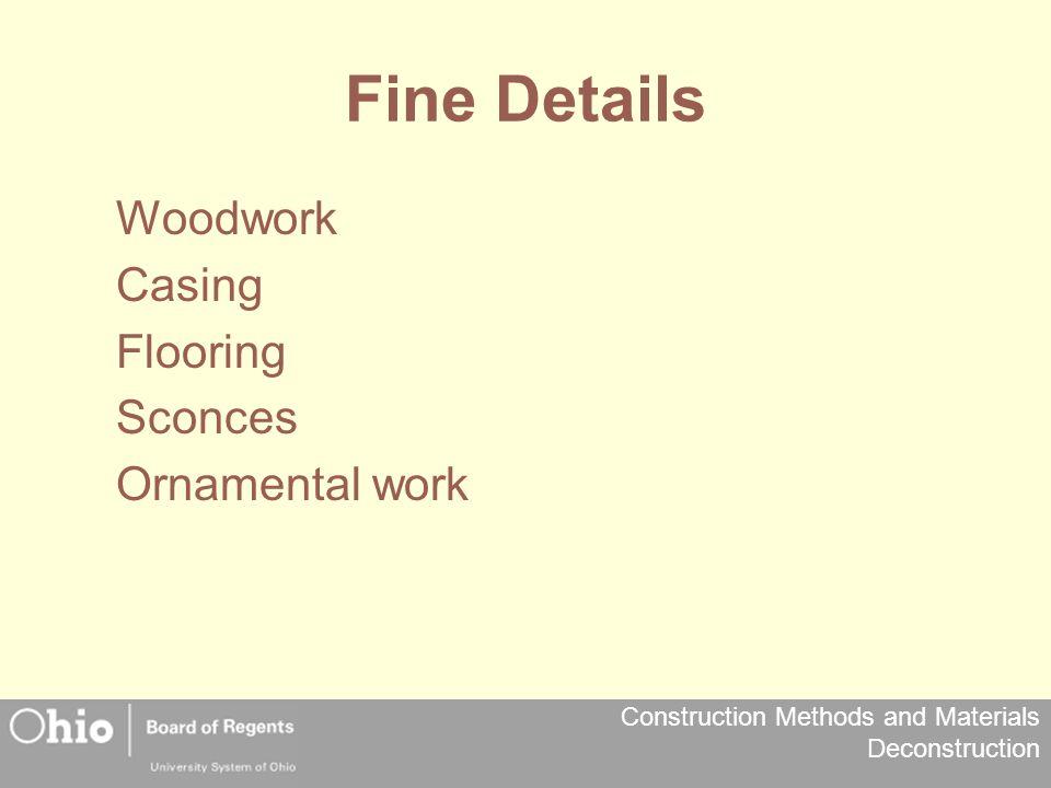 Fine Details Woodwork Casing Flooring Sconces Ornamental work
