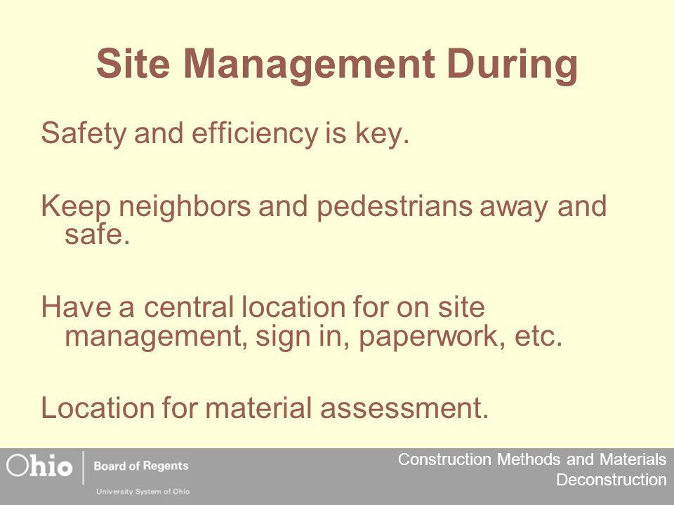 Site Management During