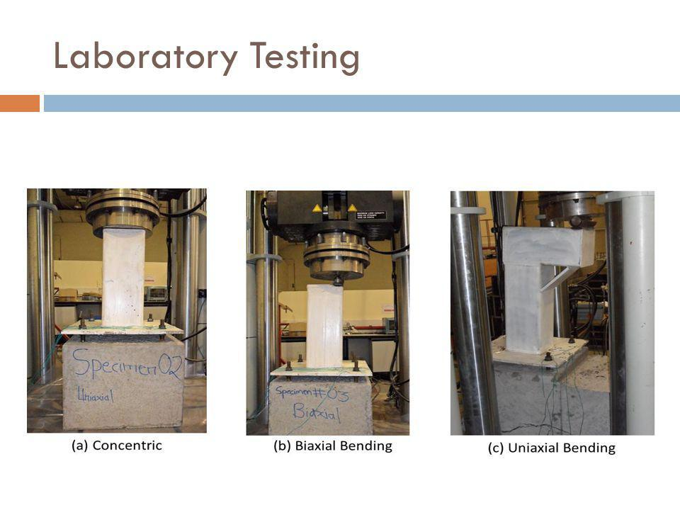 Laboratory Testing Concentric load will be applied through the actuator directly on the column head.