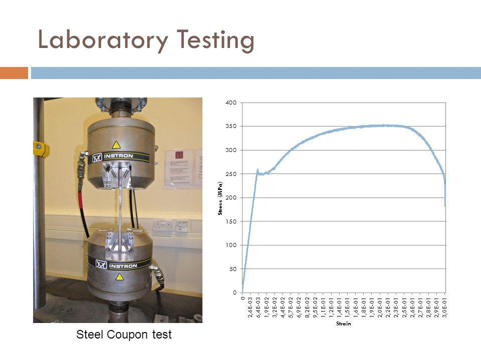 Laboratory Testing Steel Coupon test