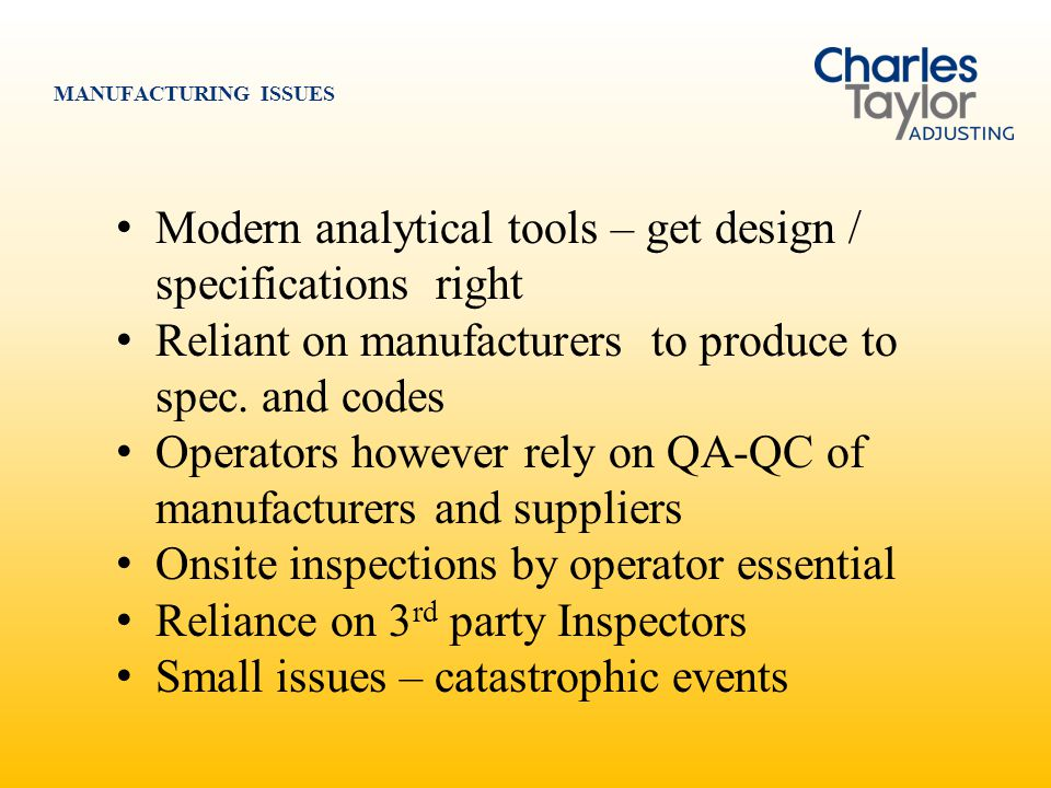 Modern analytical tools – get design / specifications right