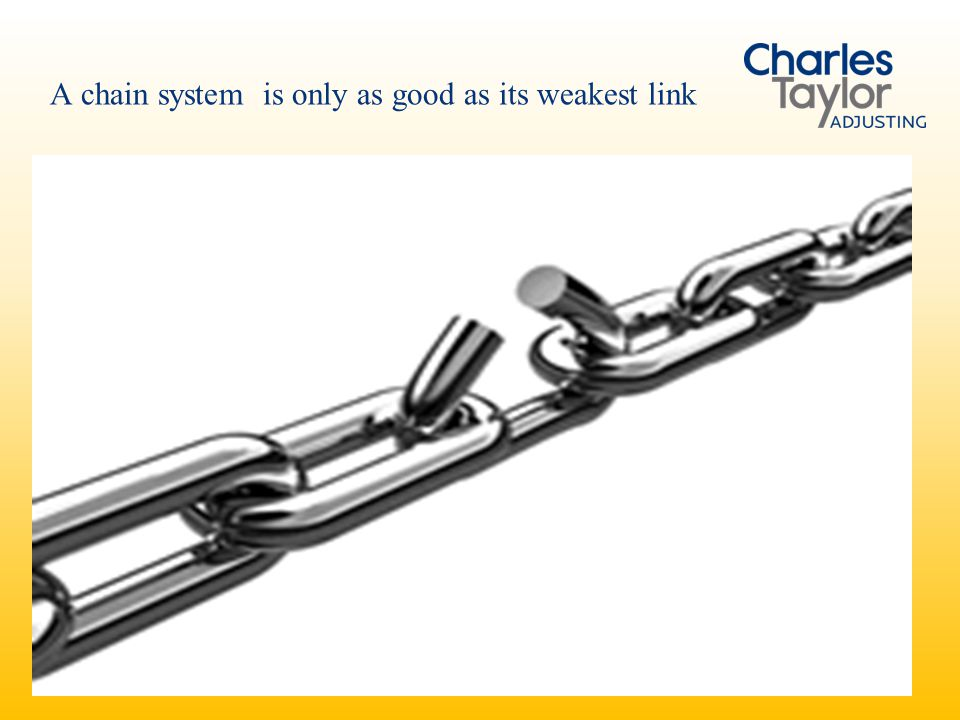 A chain system is only as good as its weakest link