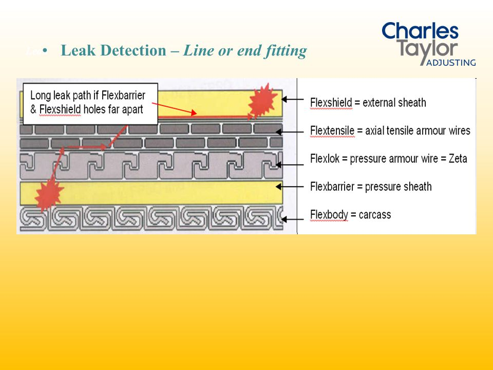 Leak Detection – Line or end fitting