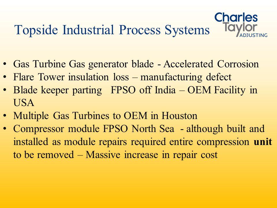 Topside Industrial Process Systems