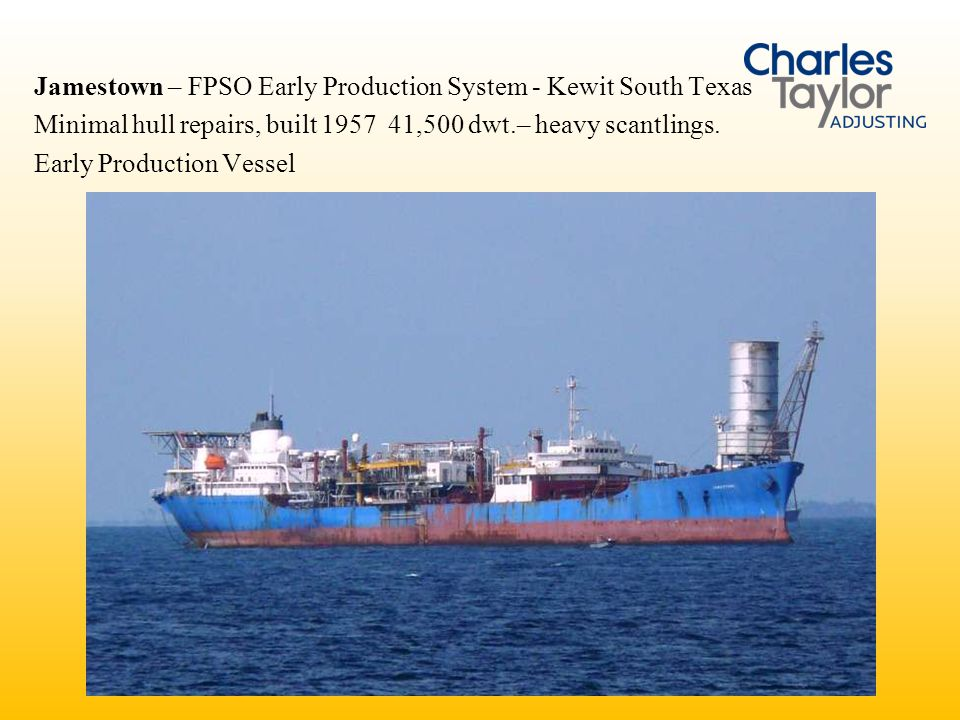 Jamestown – FPSO Early Production System - Kewit South Texas
