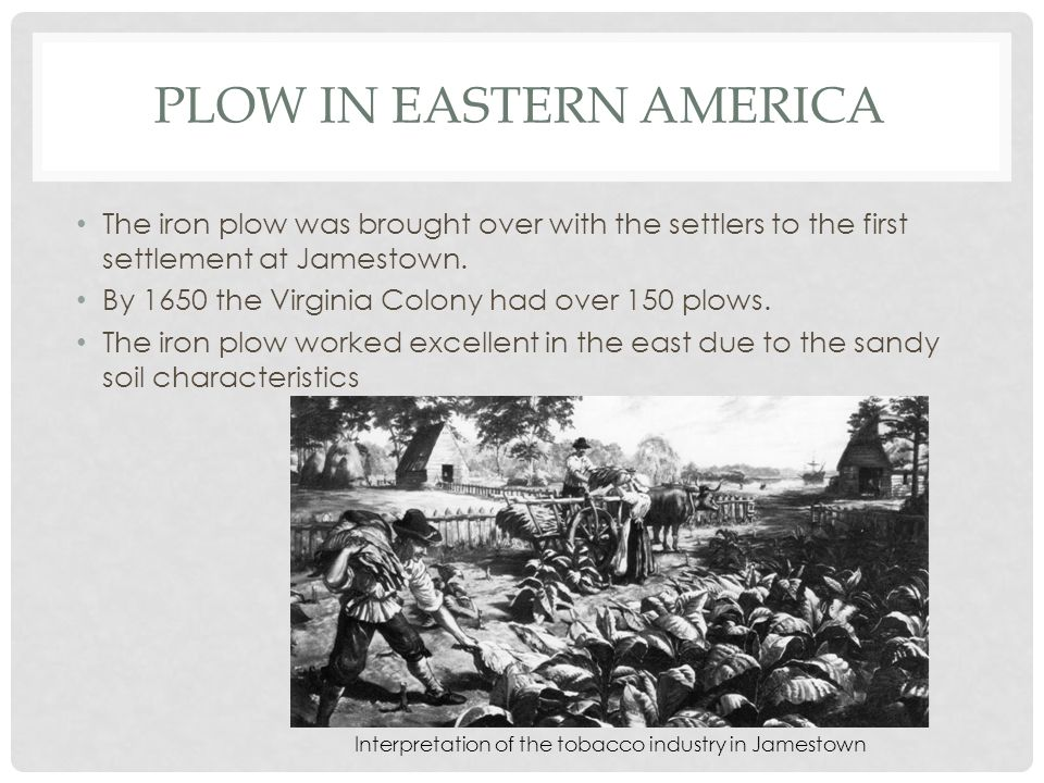 Plow in Eastern America