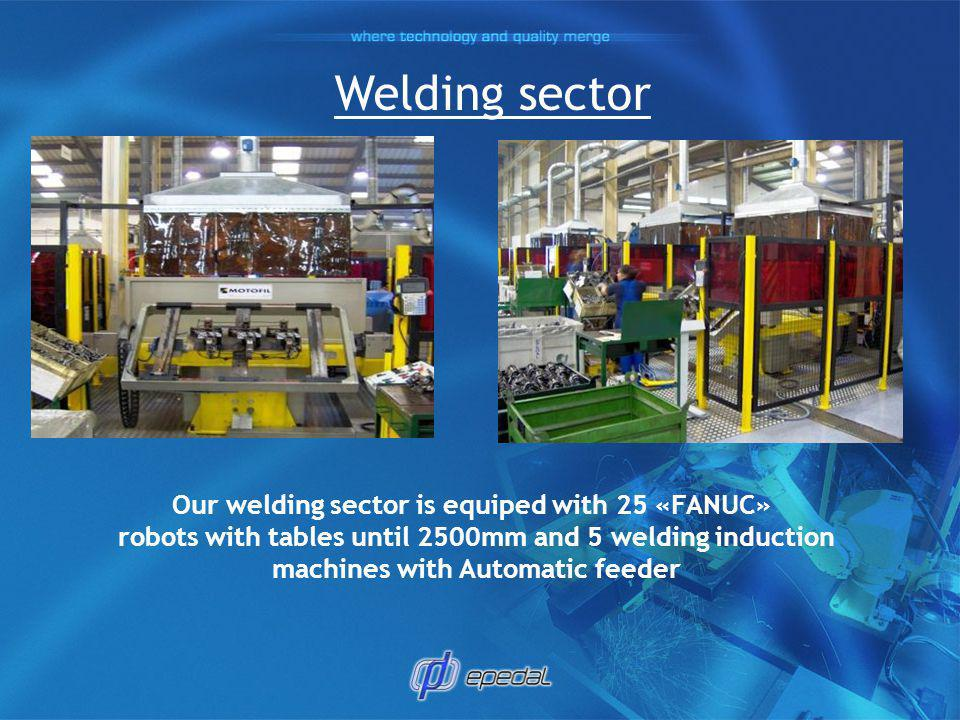 Welding sector Our welding sector is equiped with 25 «FANUC»