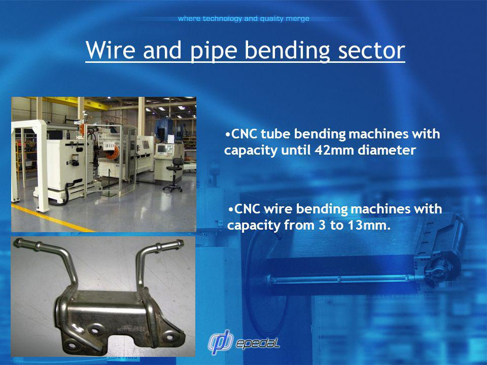 Wire and pipe bending sector