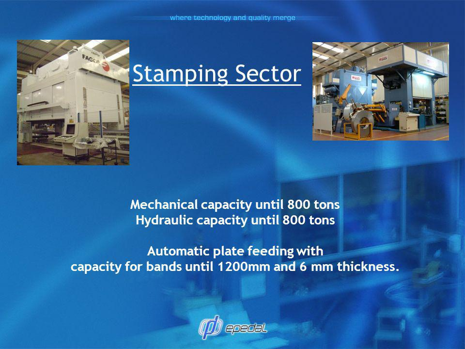 Stamping Sector Mechanical capacity until 800 tons