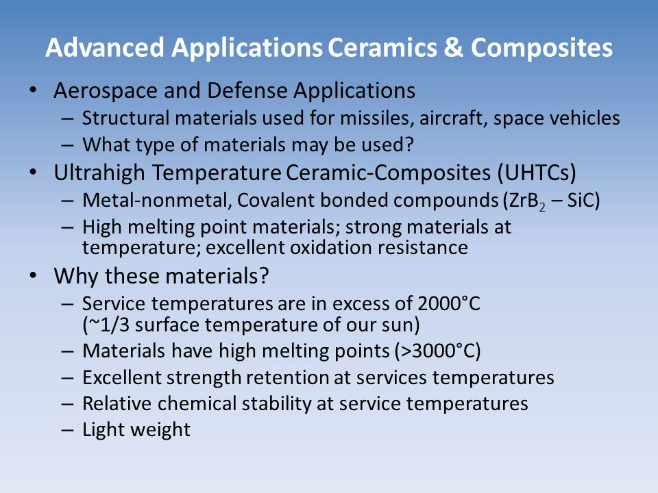 Advanced Applications Ceramics & Composites