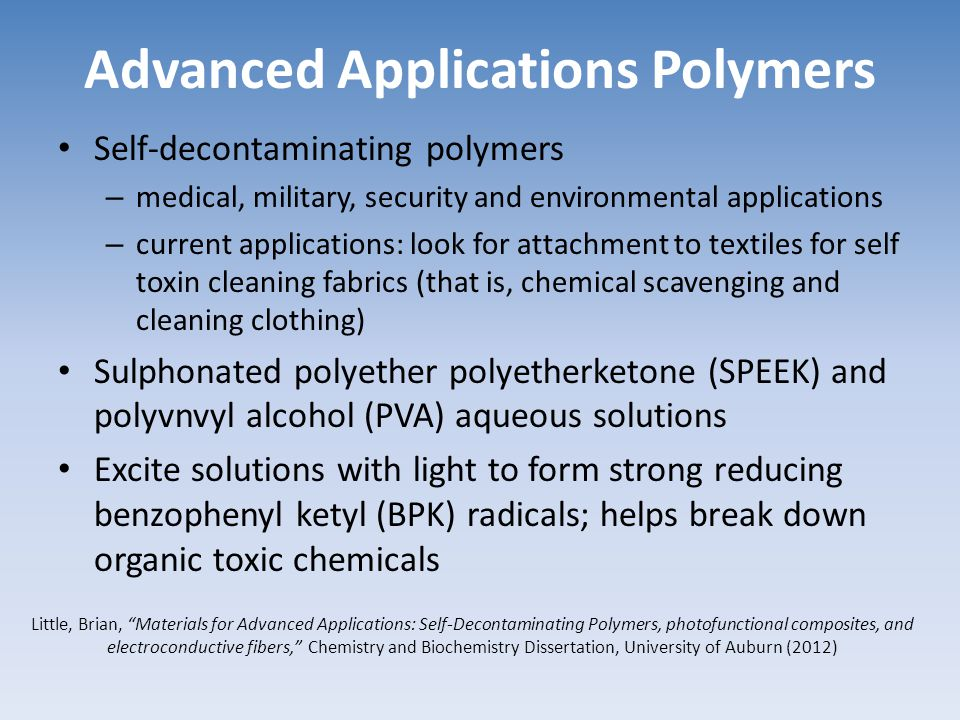 Advanced Applications Polymers