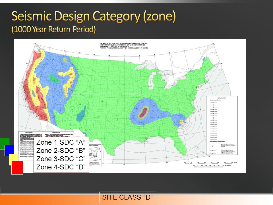 Seismic Design Category (zone) (1000 Year Return Period)