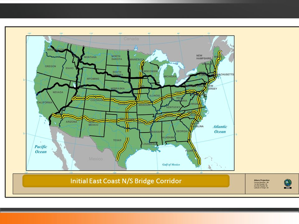Initial East Coast N/S Bridge Corridor