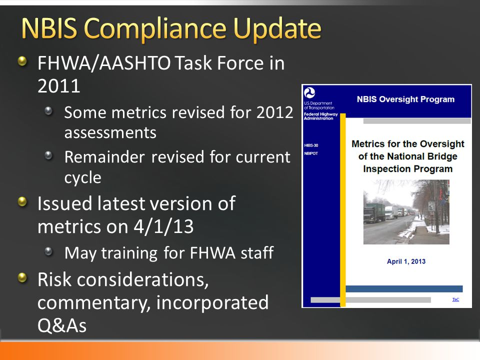 NBIS Compliance Update