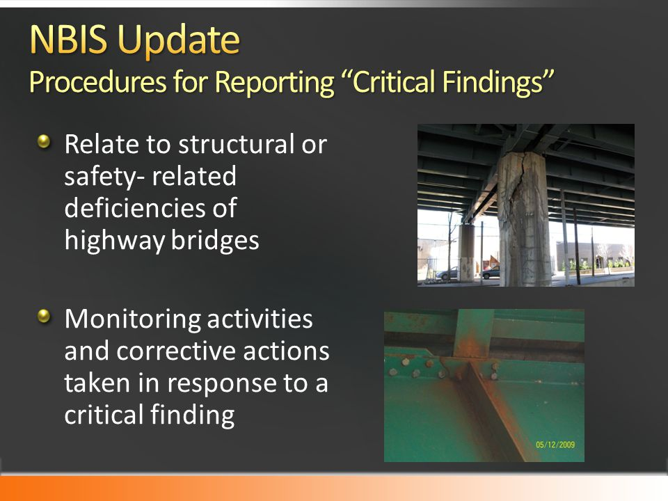 NBIS Update Procedures for Reporting Critical Findings
