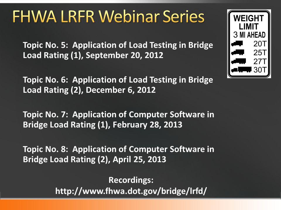 FHWA LRFR Webinar Series