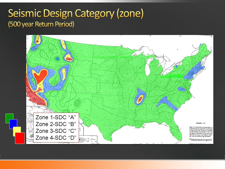 Seismic Design Category (zone) (500 year Return Period)