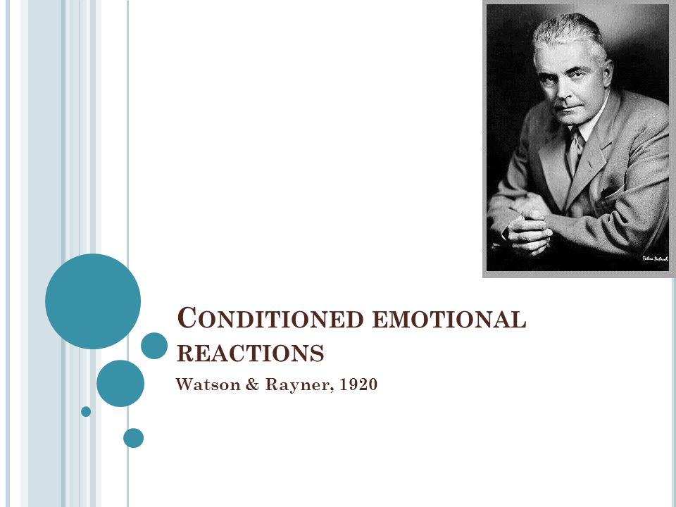 Conditioned emotional reactions