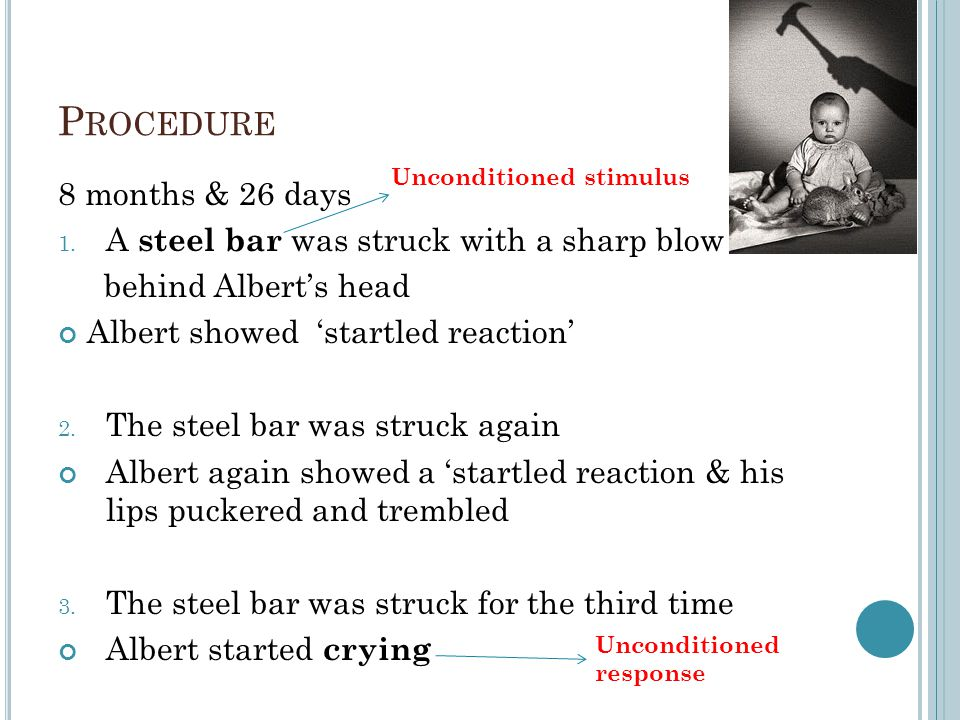 Procedure 8 months & 26 days A steel bar was struck with a sharp blow