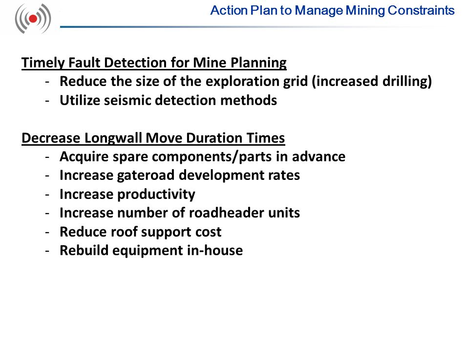 Timely Fault Detection for Mine Planning