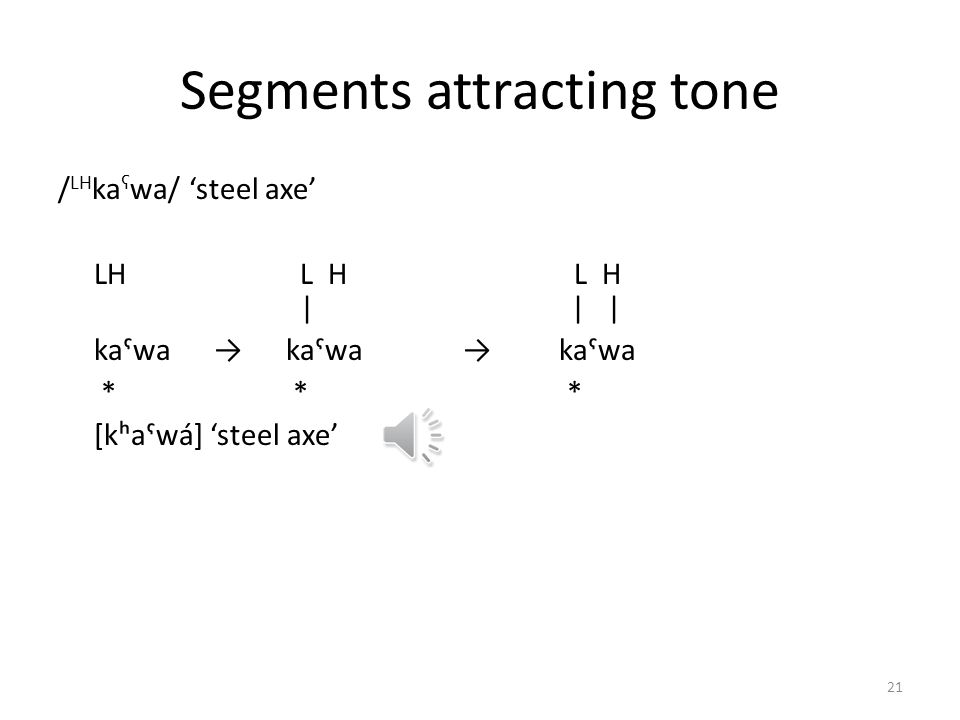 Segments attracting tone