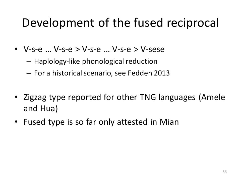 Development of the fused reciprocal