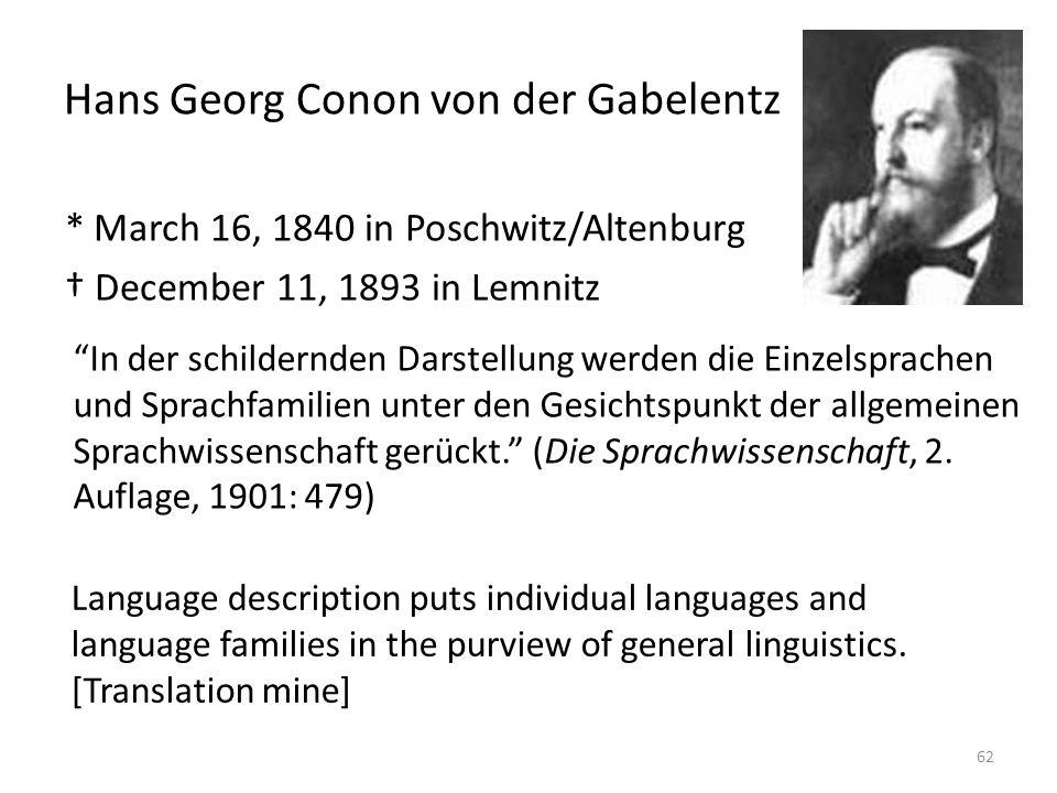 Hans Georg Conon von der Gabelentz