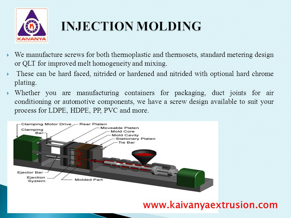 INJECTION MOLDING www.kaivanyaextrusion.com