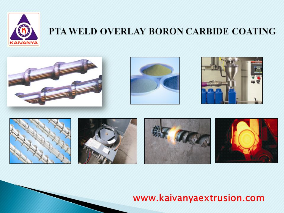 PTA WELD OVERLAY BORON CARBIDE COATING